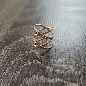 Francesca's Midi X Gold Ring